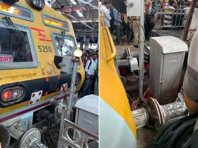 Mumbai: Local train dashes buffer-stop at CSMT station, no injuries reported
