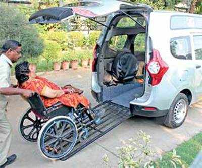 After Bangalore success, Ahmedabad gets cabs for physically challenged