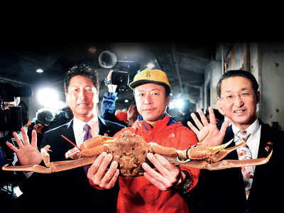 Japan crab sold for $46,000 at auction