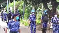 Bengaluru Police, RAF hold flag-march in JC Nagar area
