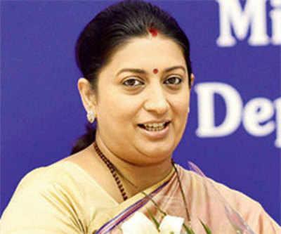 Smriti Irani to launch Gian at IIT Gandhinagar