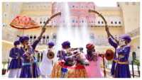 Folk dancers celebrate unlock 1.0, perform at Jaipur's tourist hotspots