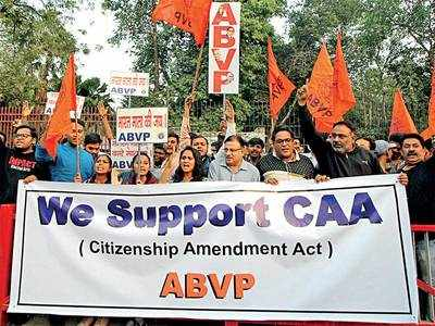 Citizenship Amendment Act: ABVP members gather to deflate CAA protests