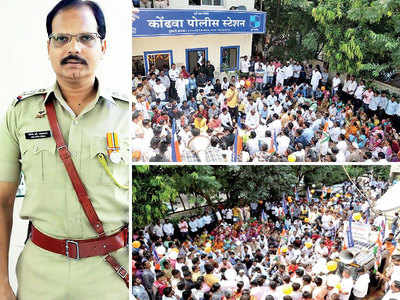 Huge support for Kondhwa PI transferred after filing case against BJP MLA
