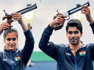 Manu Bhaker, Saurabh Chaudhary clinch gold; Yashaswini Deswal and Abhishek Verma claim silver at ISSF World Cup