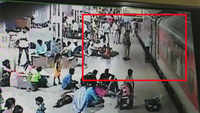 Caught on CCTV: Alert RPF jawans save 72-year-old from being run over by Rajdhani Express