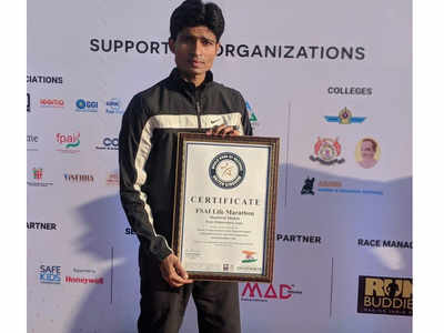 Pune runner Shashwat Shukla sets new world record in barefoot running