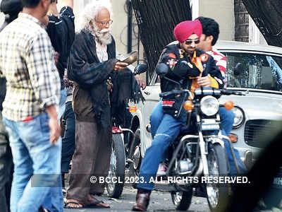 Manoj Bajpayee, Diljith Dosanjh spotted shooting at a studio