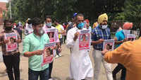 Chandigarh: NSUI activists protest against Kirron Kher with 'Missing MP' posters