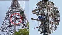 Man climbs up 200-ft high BSNL tower in Jaipur to commit suicide, rescued after 30 hours