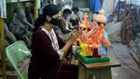 Artisans resume making Ganpati idols in lockdown 5.0
