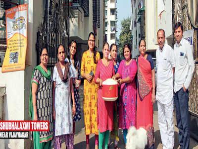 Societies in Naranpura credit rotis, debit hunger