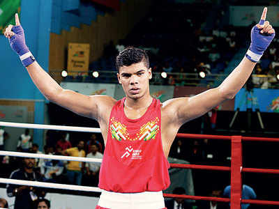 Nikhil Dubey defeats Haryana's Nitin Kumar in boxing finals
