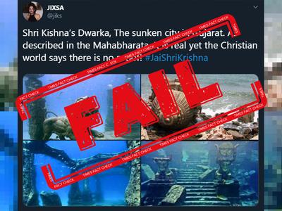 Fact check: These photos aren't proof of Sri Krishna's Dwarka in Gujarat