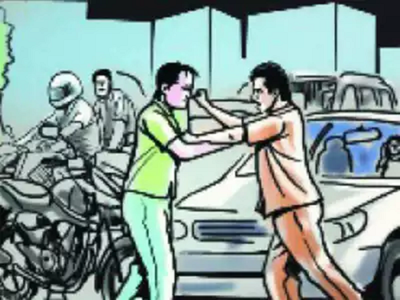 Father, son beaten up over road safety advice