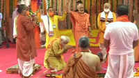 PM Narendra Modi lays foundation stone at Ram temple site in Ayodhya