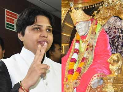 Why no civilised dress code for priests? Trupti Desai asks Shirdi Sai Sansthan to remove boards urging pilgrims to wear Indian outfits