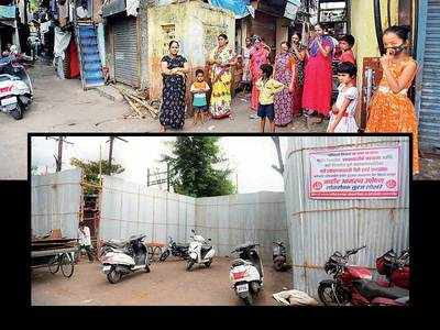 It is business as usual for contained Sinhagad Rd slums