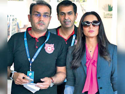 IPL 2018: Kings XI Punjab co-owner Preity Zinta slams Virender Sehwag after defeat against Rajasthan Royals; angry Sehwag could quit the franchise