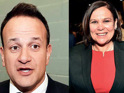 Varadkar's party pushed to third place in Irish polls
