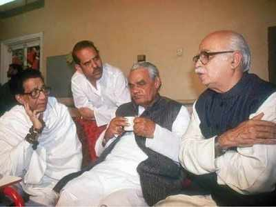 BJP minister posts a throwback photo of Balasaheb Thackeray and AB Vajpayee as BJP loses its oldest ally Sena