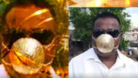 Pune man dons mask made of gold worth almost Rs 3 lakh