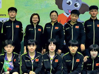 China win three titles