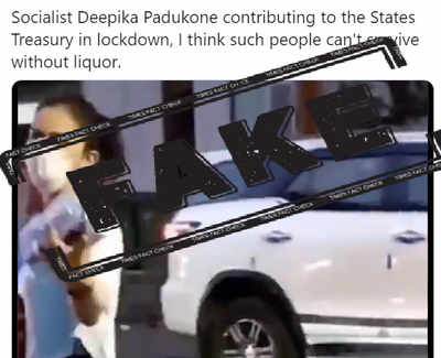 Fake Alert: Video of Rakul Preet Singh passed off as Deepika Padukone buying liquor