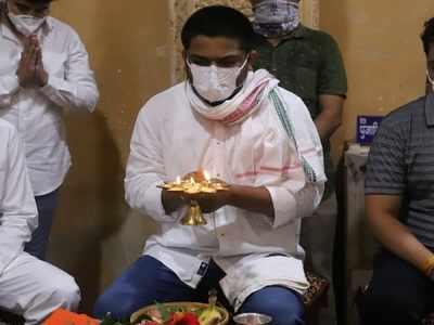 Hardik Patel visits Somnath Temple on his birthday