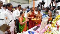 Telangana CM K Chandrasekhar Rao inaugurates Kondapochamma Sagar project