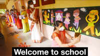 Pune: Teachers decorate classrooms to welcome students online on first day of school