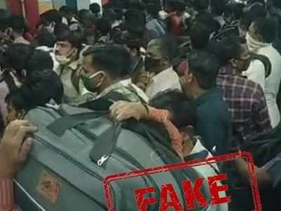 Mumbaikars, this image, video of the crowd at CSMT is fake