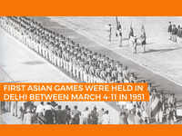 First Asian Games were held in Delhi between March 4-11 in 1951