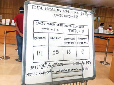 BMC move to bar 72 small hospitals leads to ICU bed shortage in private hospitals
