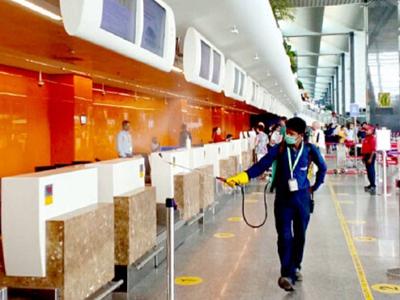 Improved sanitisation measures at Bengaluru airport