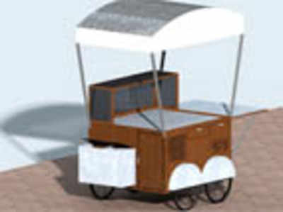 Smart vendor carts & homeless shelters that turn into shops