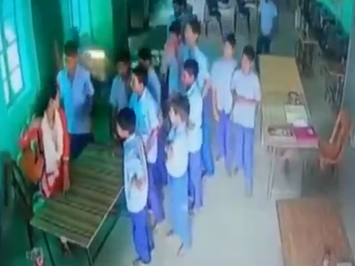 Watch: Female welfare officer thrashed by students of Gandhi Seva Niketan Ashram in Raebareli