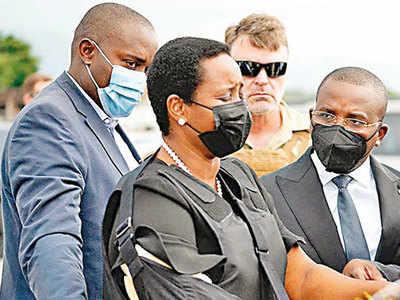 Slain Haiti leader's wife returns home