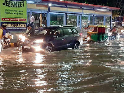 S Guj drenched, city's wait for rain continues