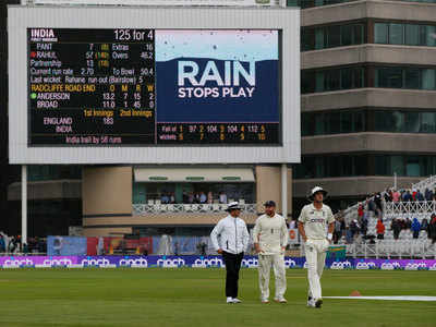 India vs England 1st Test Highlights: Rain forces early stumps on Day 2; India 125/4, trail by 58 runs
