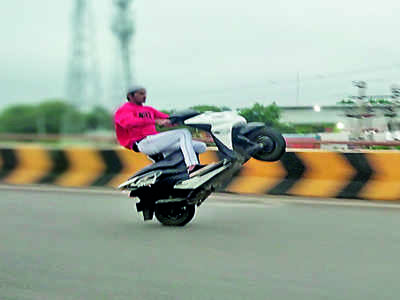 Pulling a dangerous stunt: 60 bikes seized
