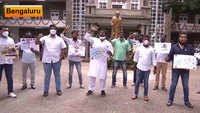 Karnataka: Youth Congress activists protest over alleged corruption in COVID-19 equipment purchase