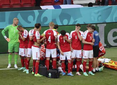Euro 2020: Denmark midfielder Christian Eriksen 'doing well' after on-field collapse