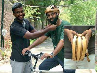 Now, a bamboo helmet for your coco