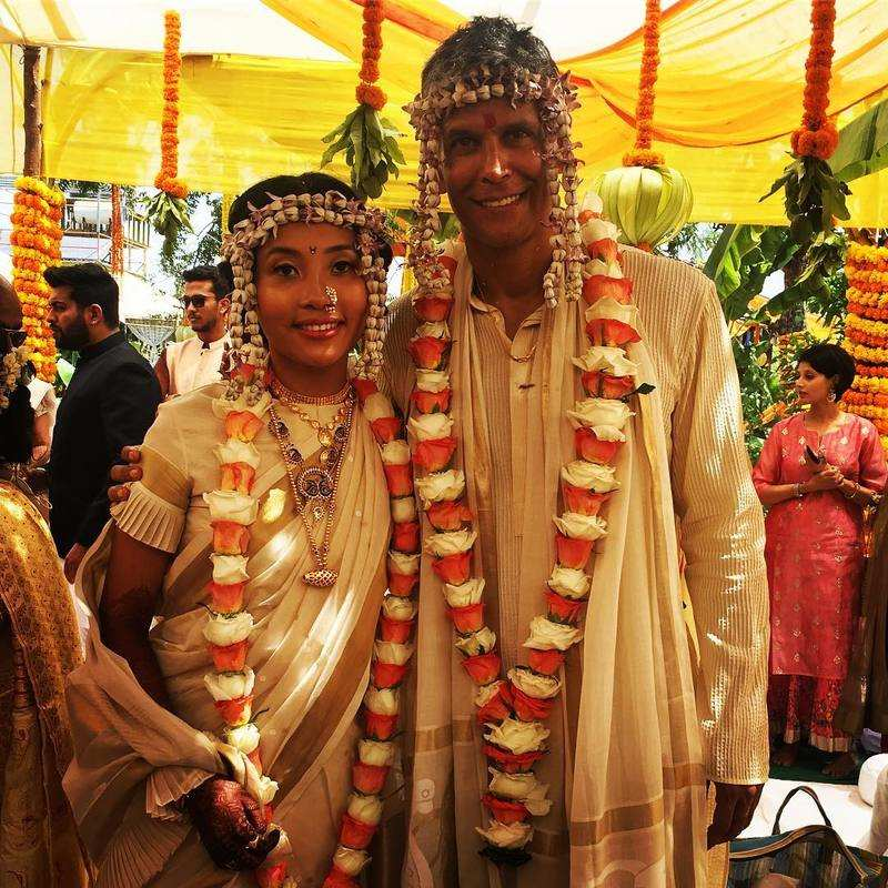 Milind Soman and Ankita Konwar get hitched