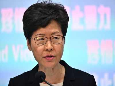 Hong Kong leader Carrie Lam announces ban on protester face masks