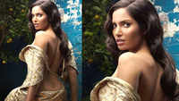 Supermodel Padma Lakshmi bares her back in ethic ensemble, sets hearts racing