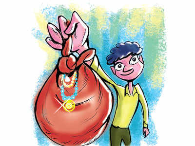 Trader cheated of gold chain in Narol