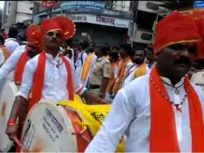 Watch: Yerwada jail prisoners participate in Guruji Talim Ganpati Procession