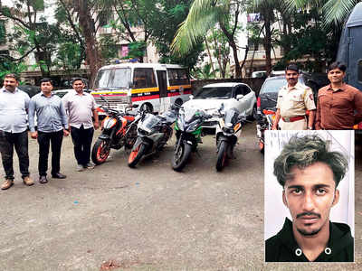 19-yr-old held for posing as buyer and stealing bikes worth Rs 13 lakh